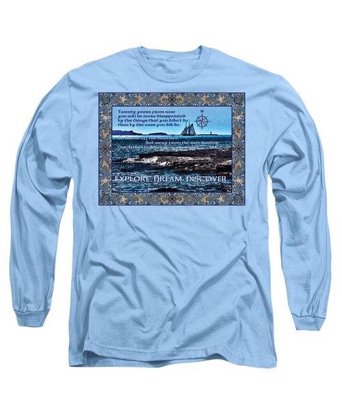 Celtic Explorer - Bluenose II In Halifax Harbour Long Sleeve T-Shirt