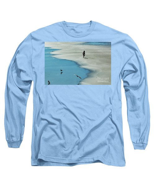 Chasing Shadows  Long Sleeve T-Shirt by Christy Ricafrente