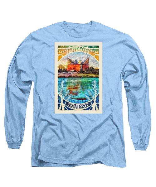 Chattanooga Aquarium Poster Long Sleeve T-Shirt by Steven Llorca
