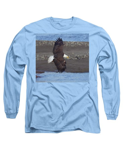 Long Sleeve T-Shirt featuring the photograph Checking Out The River by Elvira Butler