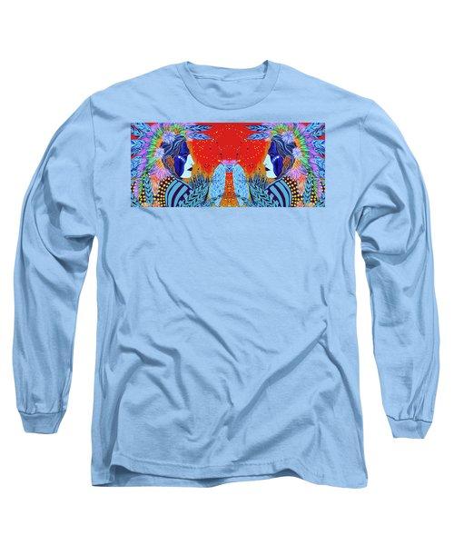 Closeup Cherokee Dancer Cup Long Sleeve T-Shirt