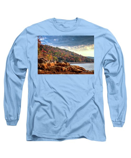 Long Sleeve T-Shirt featuring the photograph Cherokee Lake Color II by Douglas Stucky