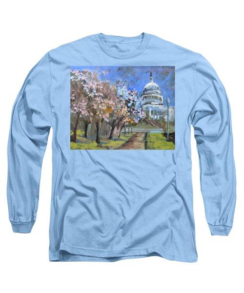 Cherry Tree Blossoms In Washington Dc Long Sleeve T-Shirt