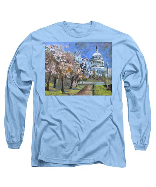 Cherry Tree Blossoms In Washington Dc Long Sleeve T-Shirt