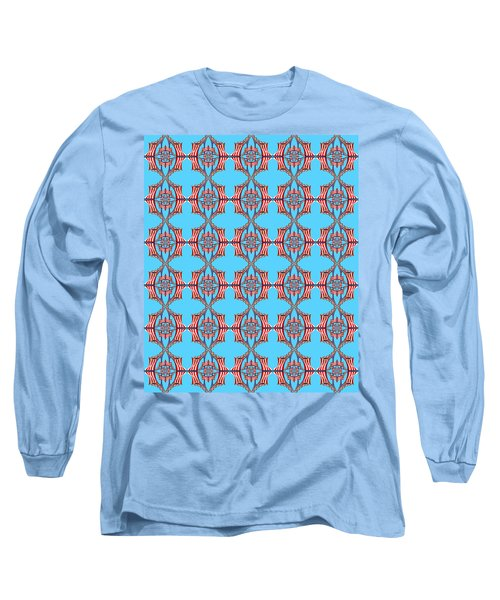 Chock A Block Light Turquoise Long Sleeve T-Shirt