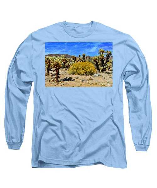 Cholla Garden Of Joshua Tree National Park Long Sleeve T-Shirt by Glenn McCarthy Art and Photography