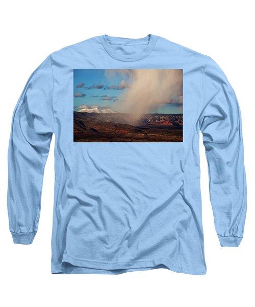 Christmas Day Snow Mix San Francisco Peaks Long Sleeve T-Shirt