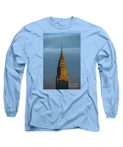 Chrysler Building In The Evening Light Long Sleeve T-Shirt by Diane Diederich