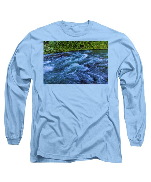 Long Sleeve T-Shirt featuring the photograph Churning Water by Jonny D