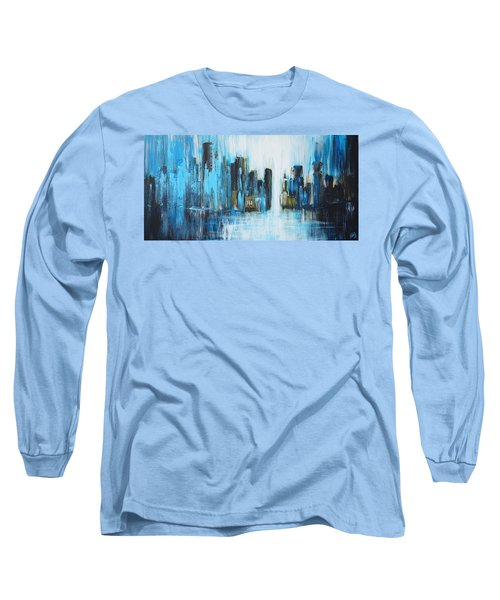 City Blues Long Sleeve T-Shirt by Theresa Marie Johnson