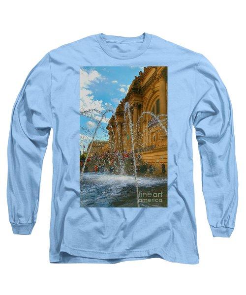 Long Sleeve T-Shirt featuring the photograph City Fountain  by Raymond Earley