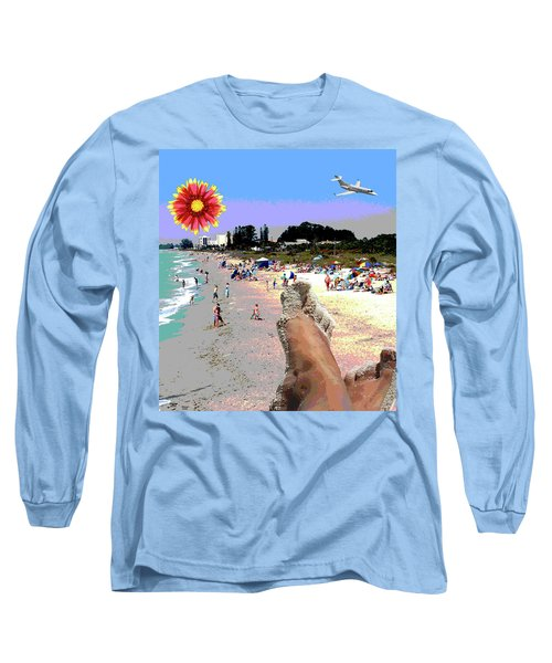 City On The Gluf Long Sleeve T-Shirt by Charles Shoup