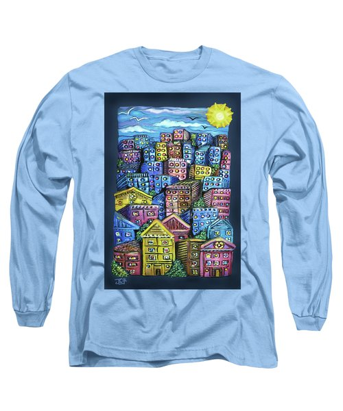 Cityscape Sculpture Long Sleeve T-Shirt