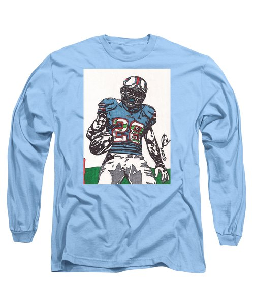 Cj Spiller 1 Long Sleeve T-Shirt by Jeremiah Colley