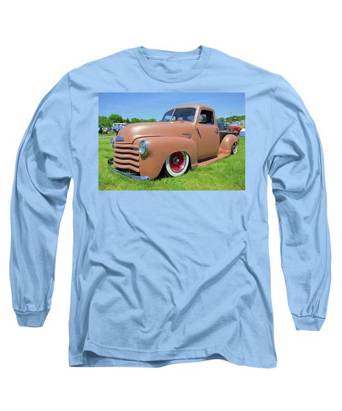 Classic Chevrolet Truck Long Sleeve T-Shirt by Marion Johnson