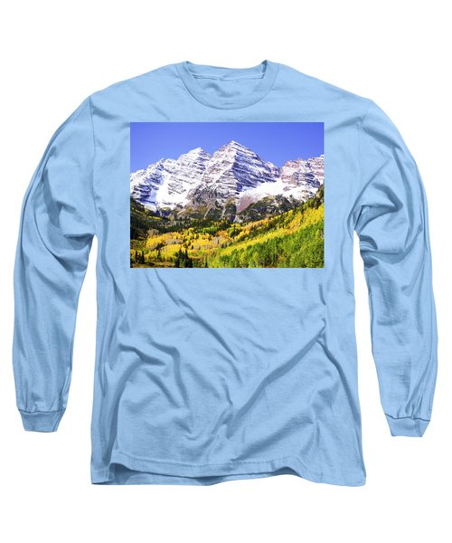 Classic Maroon Bells Long Sleeve T-Shirt