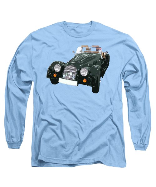 Classic Motor Art In Green Long Sleeve T-Shirt