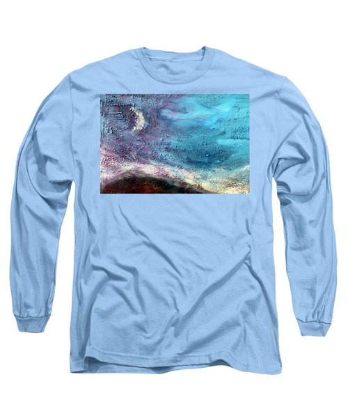 Long Sleeve T-Shirt featuring the painting Clay Moon by Winsome Gunning