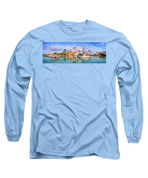 Long Sleeve T-Shirt featuring the photograph Cleveland  Pano 1  by Emmanuel Panagiotakis