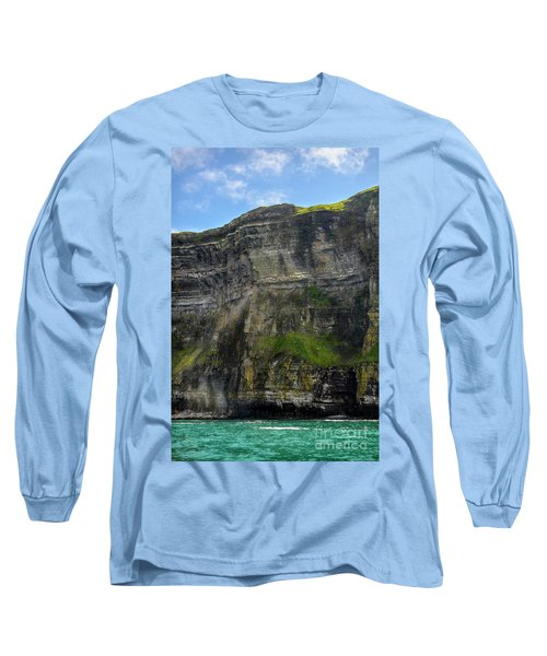 Long Sleeve T-Shirt featuring the photograph Cliffs Of Moher From The Sea Close Up by RicardMN Photography