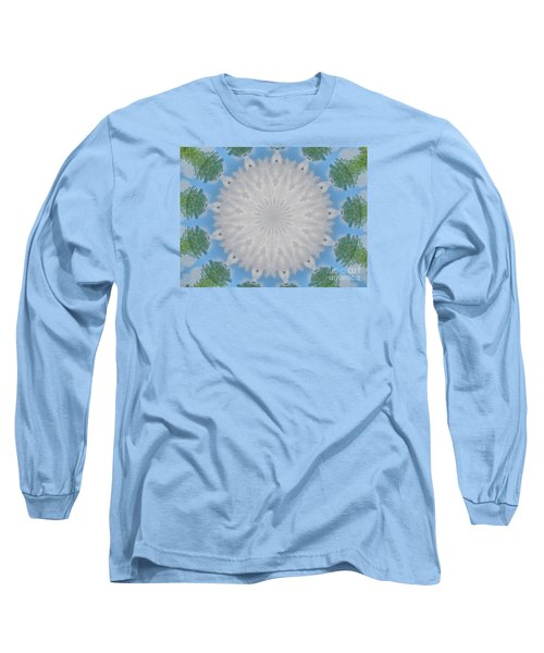 Long Sleeve T-Shirt featuring the photograph Cloud Medallion by Shirley Moravec