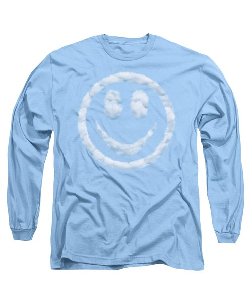 Cloud Smiley Long Sleeve T-Shirt by Matt Malloy