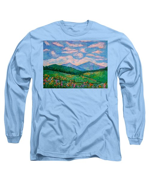 Cloud Swirl Over The Peaks Of Otter Long Sleeve T-Shirt