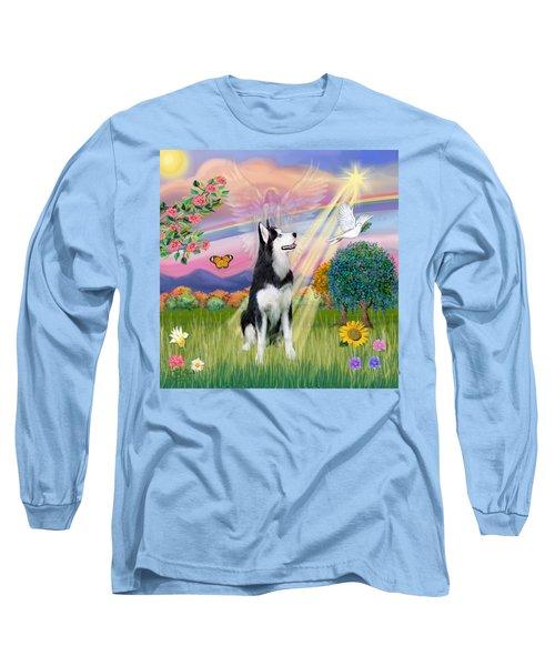 Cloudangel #1 - Siberian Husky Long Sleeve T-Shirt