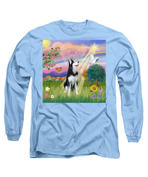 Cloudangel #1 - Siberian Husky Long Sleeve T-Shirt