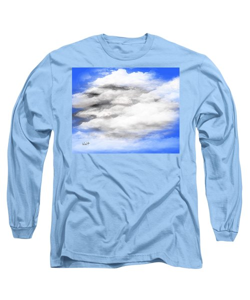 Long Sleeve T-Shirt featuring the digital art Clouds 2 by Walter Chamberlain