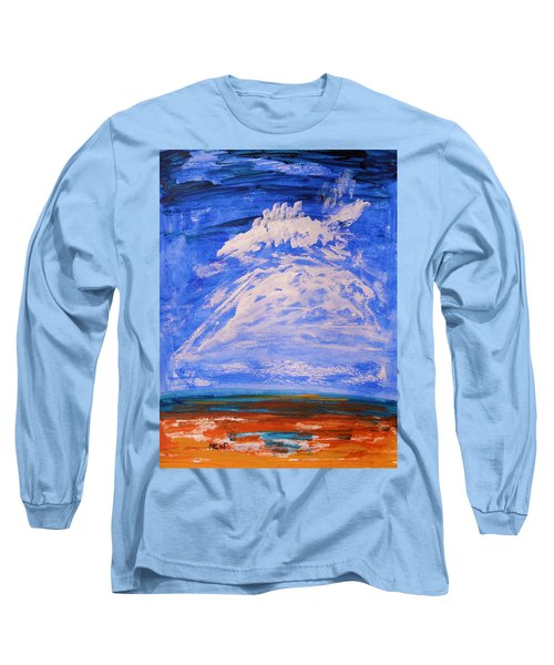 Long Sleeve T-Shirt featuring the painting Clouds Dance by Mary Carol Williams