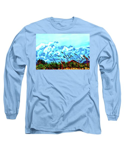 Clouds Over Vilano Beach Long Sleeve T-Shirt