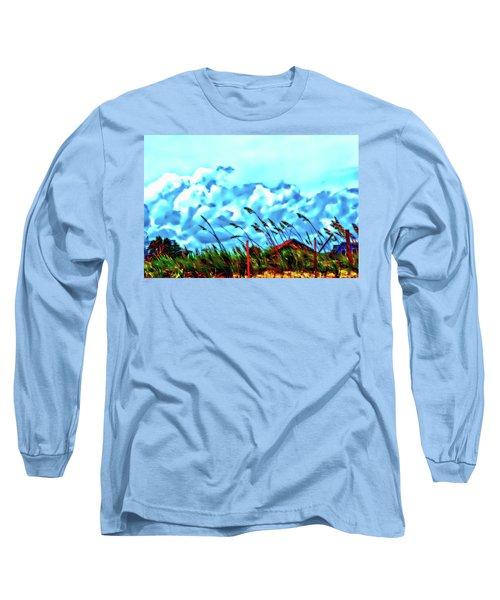 Clouds Over Vilano Beach Long Sleeve T-Shirt