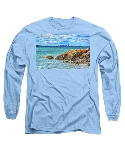 Cloudy Boston Long Sleeve T-Shirt