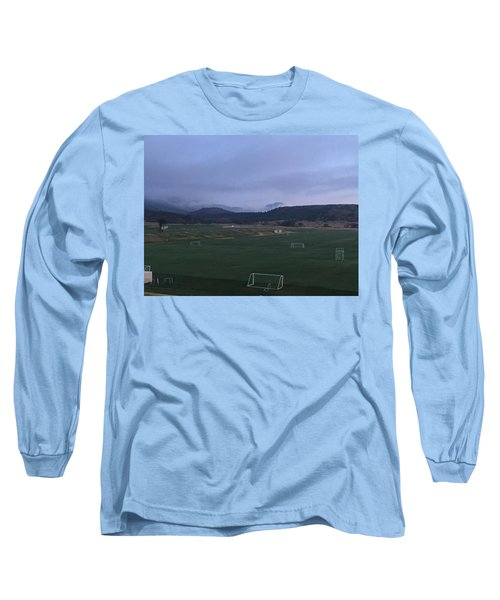Long Sleeve T-Shirt featuring the photograph Cloudy Morning At The Field by Christin Brodie