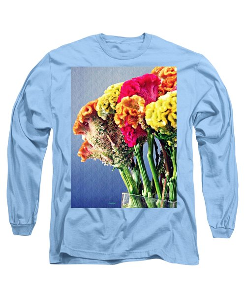Long Sleeve T-Shirt featuring the photograph Cockscomb Bouquet 2 by Sarah Loft