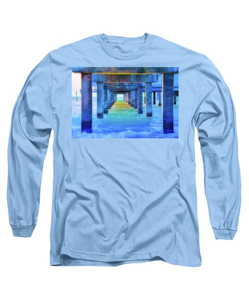 Cocoa Pier Long Sleeve T-Shirt by Pamela Williams