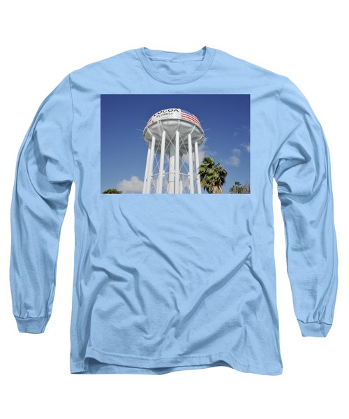 Cocoa Water Tower With American Flag Long Sleeve T-Shirt
