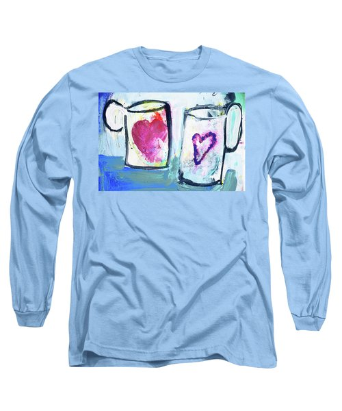 Coffee With Love Long Sleeve T-Shirt by Amara Dacer