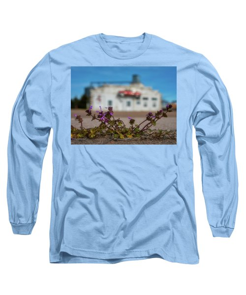 Long Sleeve T-Shirt featuring the photograph Collyer Sidewalk Blooms by Darren White