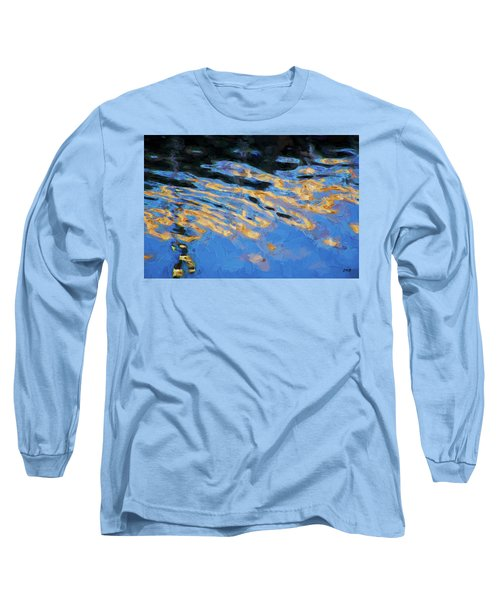 Color Abstraction Lxiv Long Sleeve T-Shirt by David Gordon