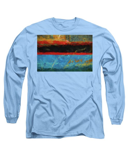 Color Abstraction Xxxix Long Sleeve T-Shirt by David Gordon