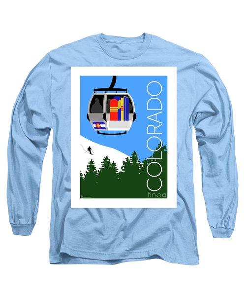 Colorado Ski Country Blue Long Sleeve T-Shirt