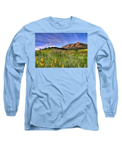 Colorado Wildflowers Long Sleeve T-Shirt by Scott Mahon