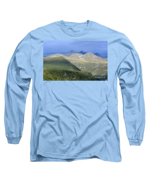 Colored Peaks Of The Caucasus Long Sleeve T-Shirt by Arik Baltinester