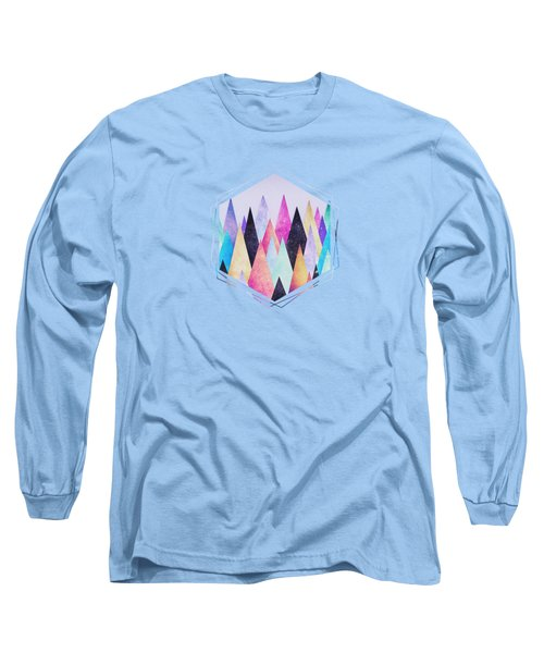 Colorful Abstract Geometric Triangle Peak Woods  Long Sleeve T-Shirt