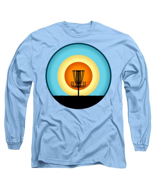 Colorful Disc Golf Basket Long Sleeve T-Shirt