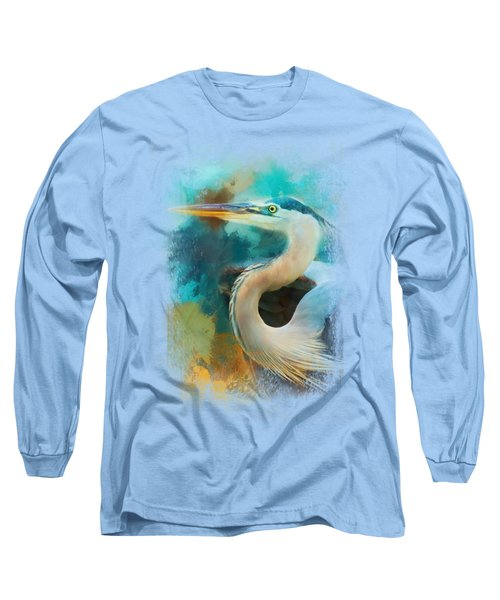 Colorful Expressions Heron Long Sleeve T-Shirt by Jai Johnson