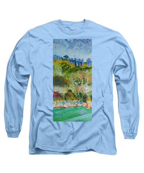 Colorful Forest On Cliffs Near The Sea In Dartmouth Devon Long Sleeve T-Shirt