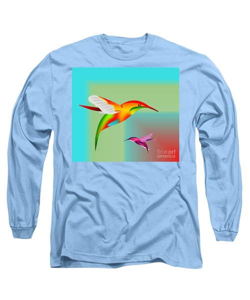 Colorful Hummingbirds Long Sleeve T-Shirt